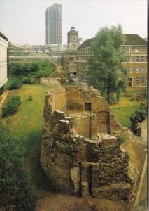 England London City Wall and Defences Outside The Museum Roman and Medieval G...