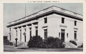 Post Office, CLEBURNE, Texas, 30-40s