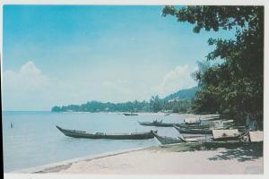 Penang Malaysia Tanjong Bungah Beach Postcard