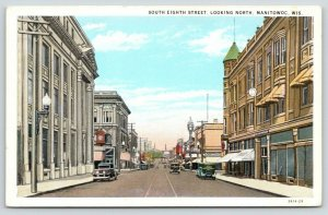 Manitowoc Wisconsin~South Eighth Street North~Downtown Shopping~1920s