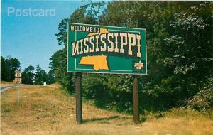 MS, Mississippi, Welcome Sign, No. 22920