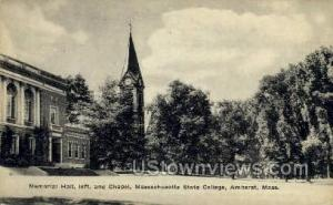 Massachusetts State College Amherst MA Unused