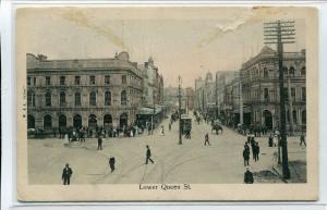 Lower Queen Street Auckland New Zealand 1910c postcard
