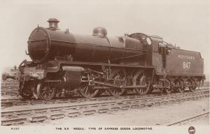 SR Southern Railway SW Mogul 847 Class 2-6-0 Train Old Photo Postcard