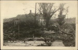 Weather Nature Tornado Damage 1922 in Antrim NH Real Photo Postcard #1