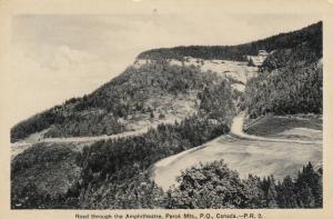 PERCE Mountains, Quebec, Canada, 1910-20s; Road through the Amphitheatre