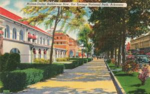 Postcard Million-Dollar Bathhouse Row Hot Springs Arkansas