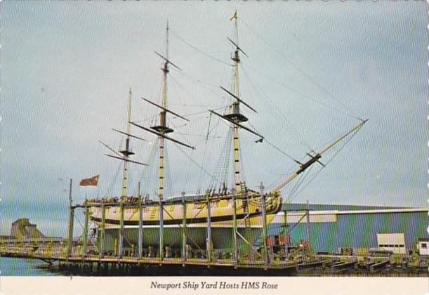 Revolutionary War Ship H M S Rose Newport Ship Yard Rhode Island