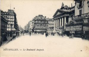 BRUXELLES.-Le Boulevard Anspach (Palais des PARFUM) , Belgium , 1890s