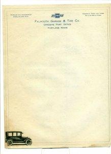 1920 Falmouth Garage & Tire Co. to U.S. Shipping Board Boston Letter Head LH1.