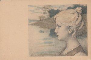 M.M.VIENNE : Female Head Portrait #4 , 1900-10s