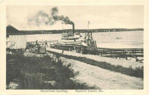 Squirrel Island ME Steamboat Landing  in 1925 Postcard