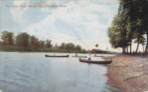 Cannoing, Peninsular Point, Huron River, YPSILANTI, Michigan, PU-1912