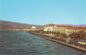 P1341 vintage postcard unused view of ataturk blvd Izmir turkey waterfront