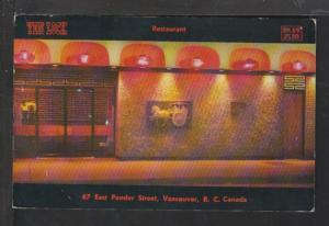 Yen Lock Restaurant,Victoria,BC,Canada Postcard