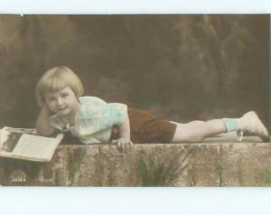 Old rppc KIDS - CHILDREN SCENE Great Postcard AB1833