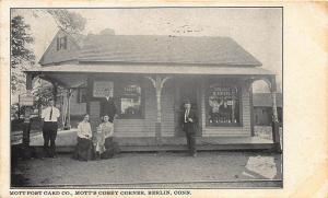 Mott Corsey Corner Berlin CT Railroad Station Train Depot Postcard