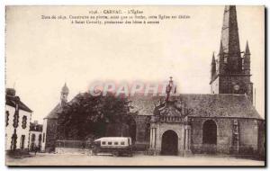 Carnac - L & # 39Eglise Date 1639 - Old Postcard