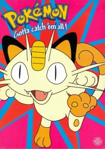 Pokemon Postcard, Meowth Leaping Pokemon Character (PC0149) 58V