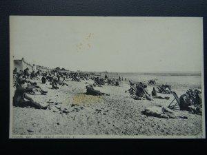 Essex THORPE BAY The Beach & Deck Chairs  c1940's Postcard by Photochrom 59779