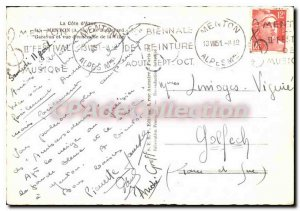 Modern Postcard La Cote D'Azur Menton Garavan Boulevard M and overview of the...