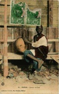 CPA AK Dakar - Joeur de Cora - Folklore SENEGAL (778254)