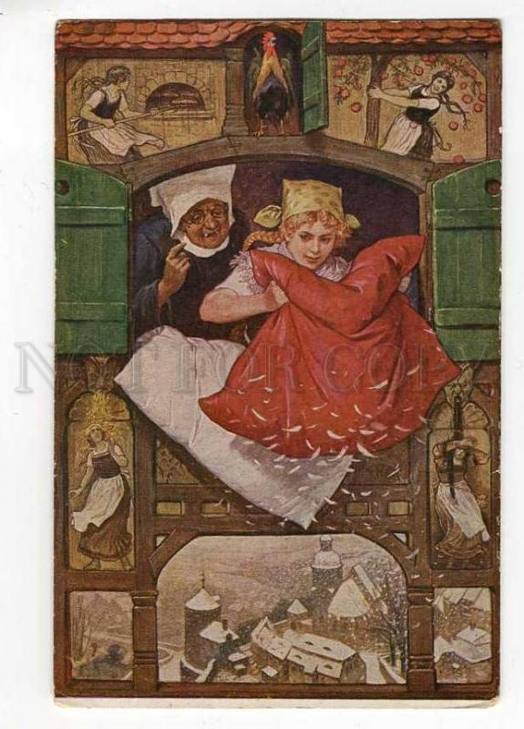 257056 Frau Holle FAIRY TALE by Paul HEY Vintage #301 postcard