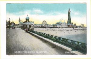 BLACKPOOOL, Lancashire, England, 1900-1910's; North Promenade
