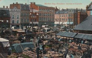 HAMILTON , Ontario , 1916 ;  Market Day, Garden of Canada