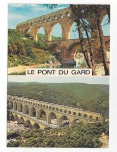 France Pont Du Gard Roman Aqueduct Dual View 4X6 Postcard