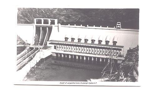 Real Photo  Model of Dam Roxburgh Hydro,  New Zealand