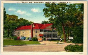 Franklin, North Carolina Postcard TREMONT INN Hotel Roadside Linen c1940s Unused
