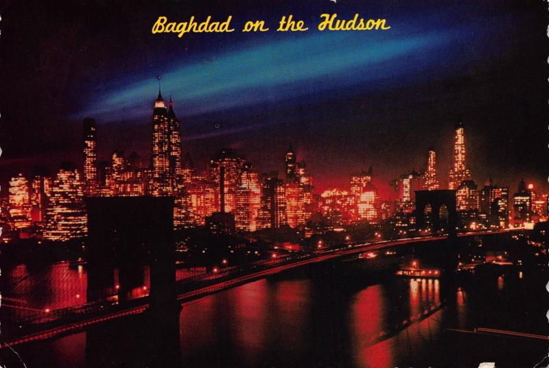 Postcard City of Cities Baghdad On The Hudson NEW YORK CITY USA United States