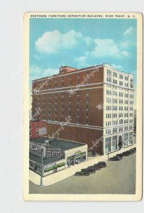 PPC POSTCARD NC NORTH CAROLINA HIGH POINT SOUTHERN FURNITURE EXPOSITION BUILDING