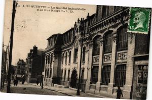 CPA  St-Quentin - La Société Industrielle et la Rue Raspail    (202338)