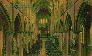 Belgium Mechelen Malines Cathedral St Rombaul Interior view Postcard