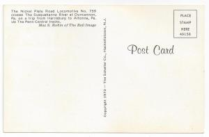 Train Railroad Postcard Nickel Plate Road No 759 Susquehanna
