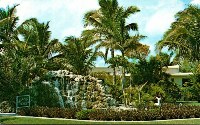 Florida Deerfield Beach Landscaped Fountain