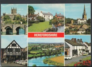 Herefordshire Postcard - Views of Herefordshire - Ledbury, Weobley  RR5444