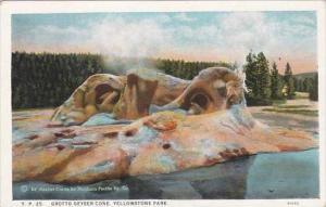Wyoming Yellowstone Park Grotto Geyser Cone Geyser Cone