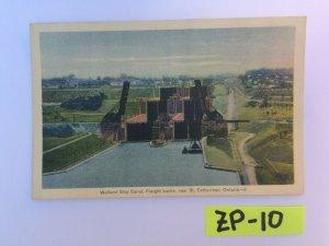 Welland Ship Canal Freight Locks near St Catharines Vintage Postcard ZP-10