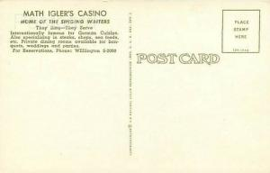 IL, Chicago, Illinois, Math Igler  Casino, Curteichcolor No. 1DK-1994