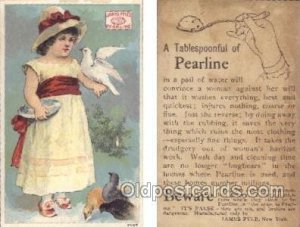 James Pyles Pearline Washing Compound Trade Card Approx Size Inches = 2.5 x 4...