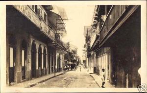 panama, Avenida A (1930s) RPPC