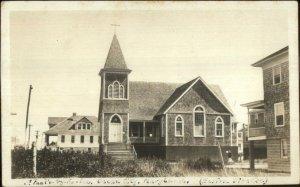 Ocean City MD St. Paul's by Sea Church c1910 Real Photo Postcard