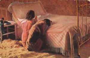 US2841 Emmet Vaterunser I Priere du Soir, Little Girl and Dog Praying religion