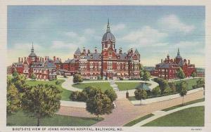 Maryland Baltimore Birds Eye View Of Johns Hopkins Hospital