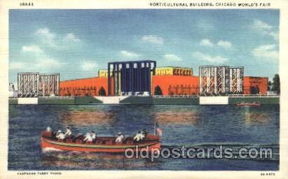 Horticultural Building 1933 Chicago, Illinois USA Worlds Fair Exposition Post...