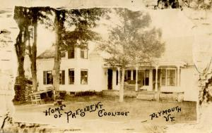 VT - Plymouth. Home of President Coolidge     *RPPC