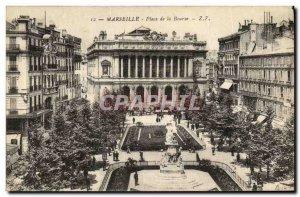 Old Postcard Marseille Place de la Bourse
